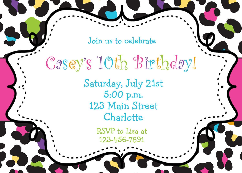 Birthday Party Invitation Free Template