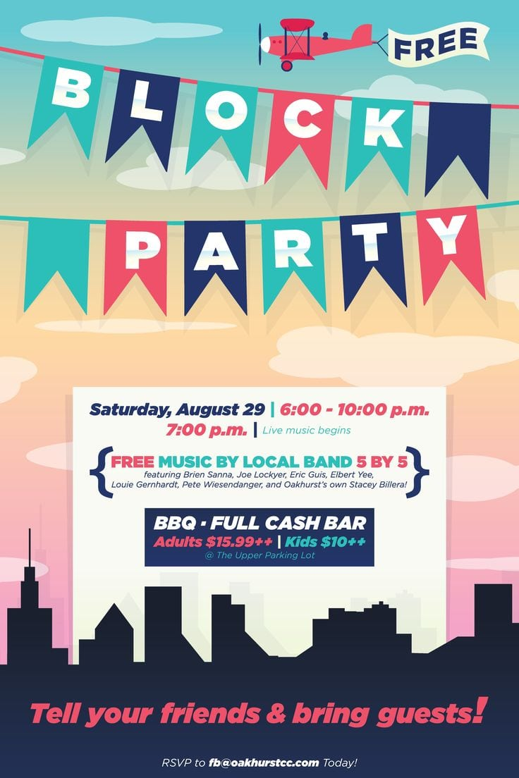 Block Party Invitation Block Party Invitation With A Outstanding