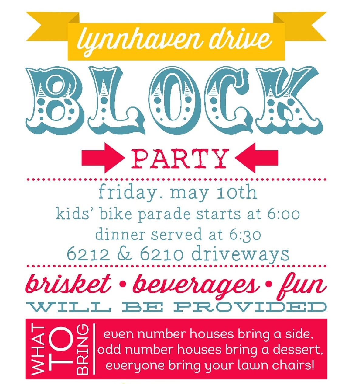 Block Party Invitation Block Party Invitation With Some Fantastic