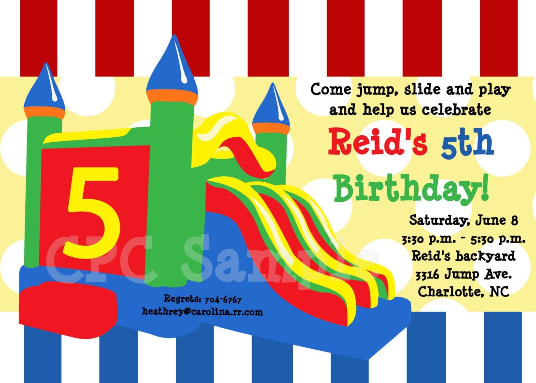 Bounce Birthday Party Invitations - Mickey Mouse Invitations Templates