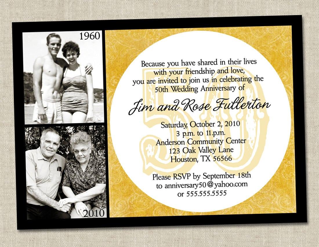 Brilliant With 50th Wedding Anniversary Invitations Wording