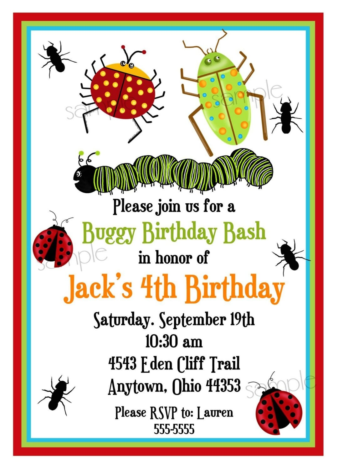 Bug Invitations, Bugs, Insects, Camping, Ladybugs, Ants
