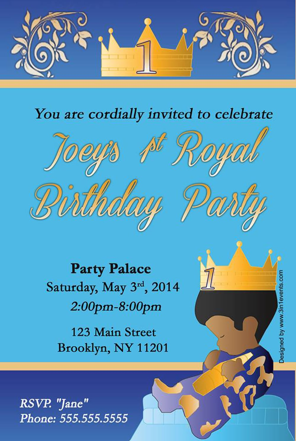 Charming Prince Party Invitations Contemporary