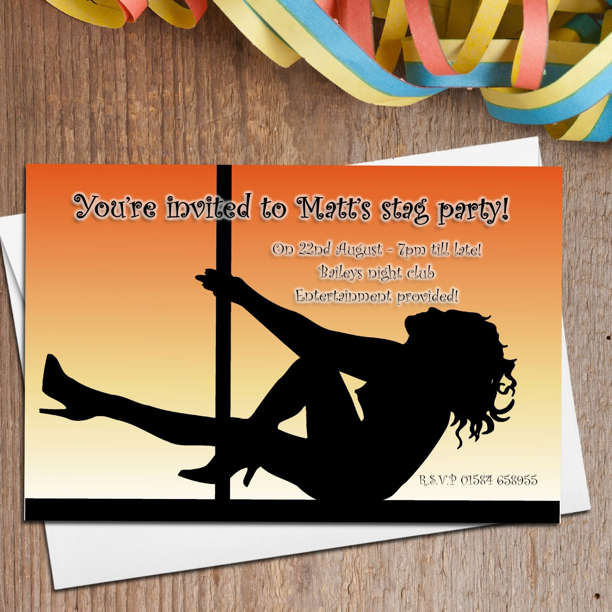 Charming Stag Party Invite Contemporary