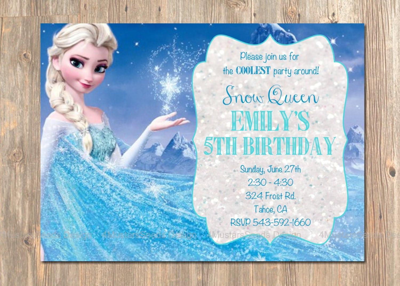 Chic Frozen Birthday Party Invitations As Birthday Invitation