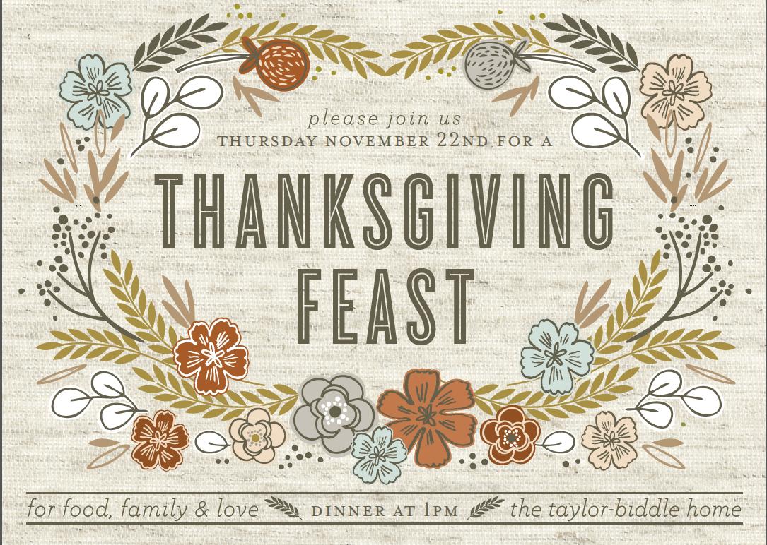 Choosing Invitations For Our Thanksgiving Dinner