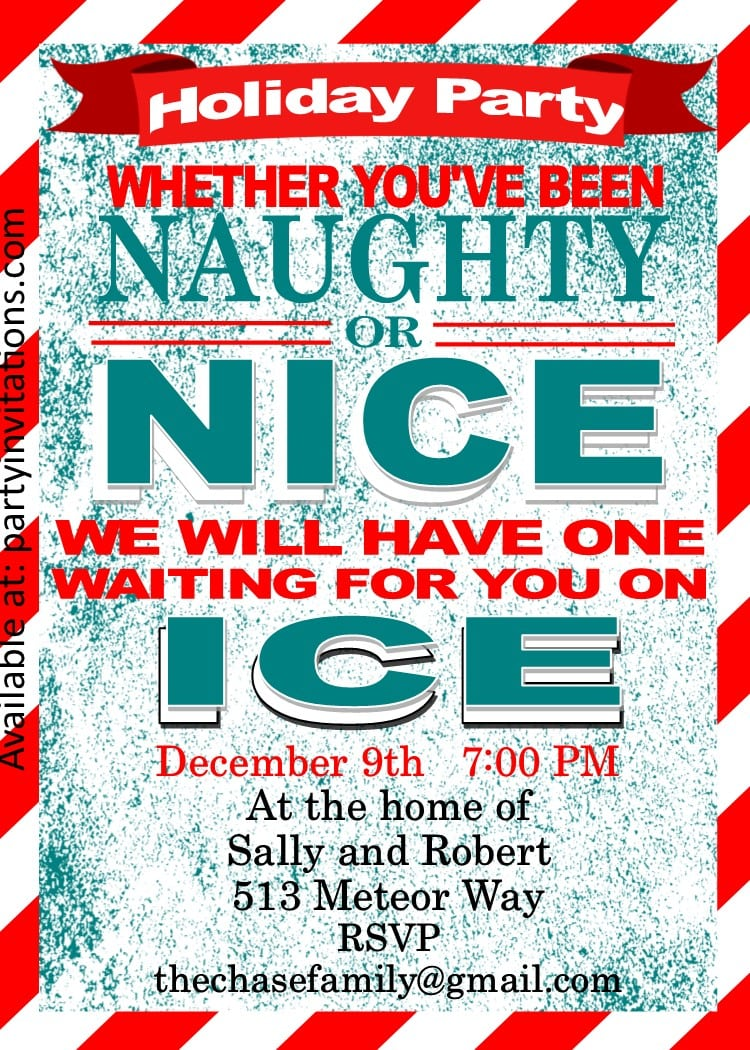 Christmas Cocktail Party Invitations