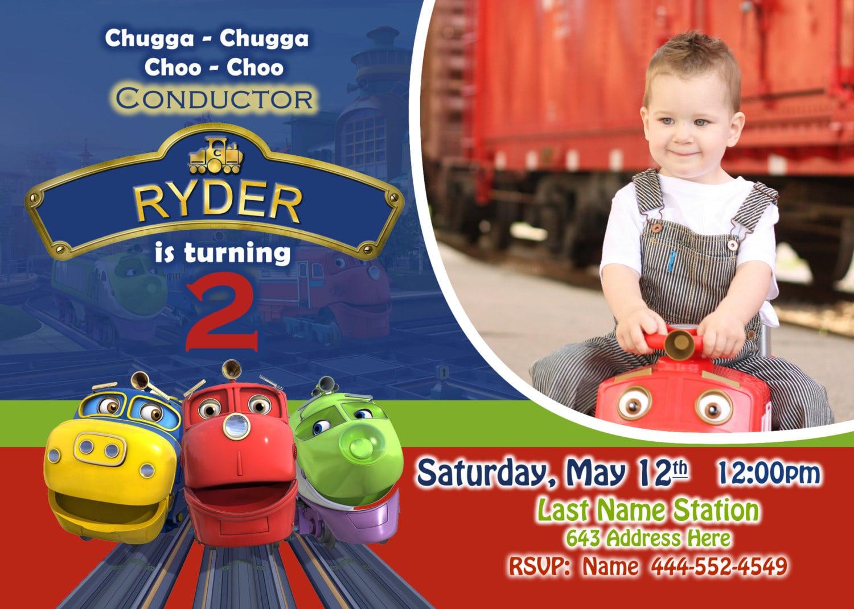 Chuggington Invite, Chuggington Invitation, Chuggington Birthday
