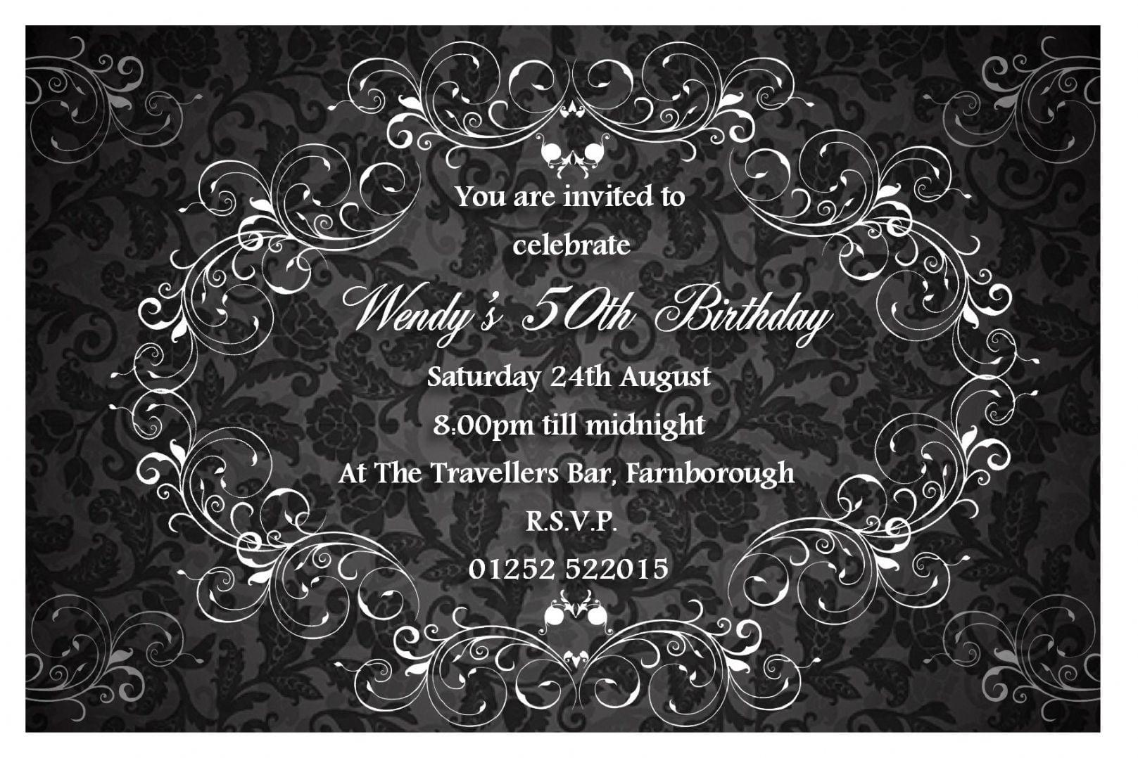 Classy Birthday Party Invitations