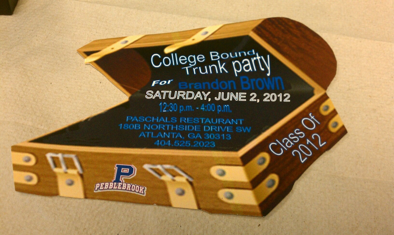 College Bound Trunk Party Invitation