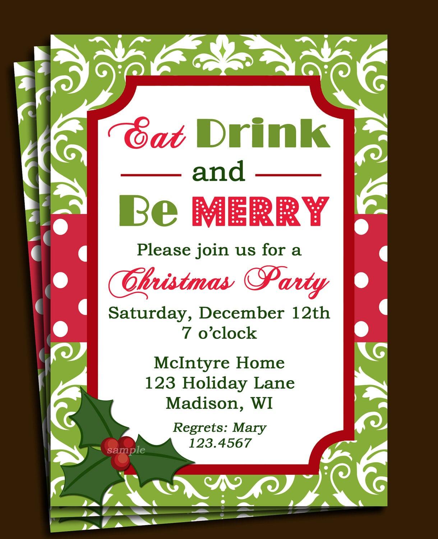 Company Christmas Party Invitation Templates