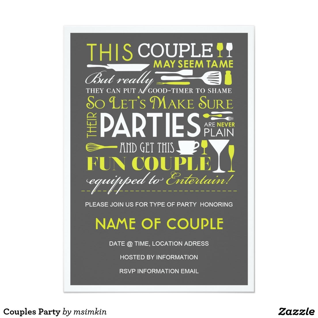 Couples Party Card
