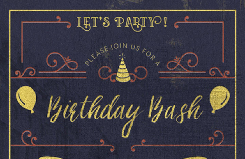 Create An Elegant Birthday Party Invitation
