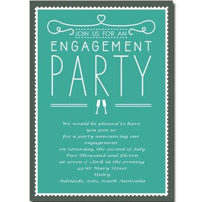 Creative Engagement Party Invitation Wording Casual 6 Photos