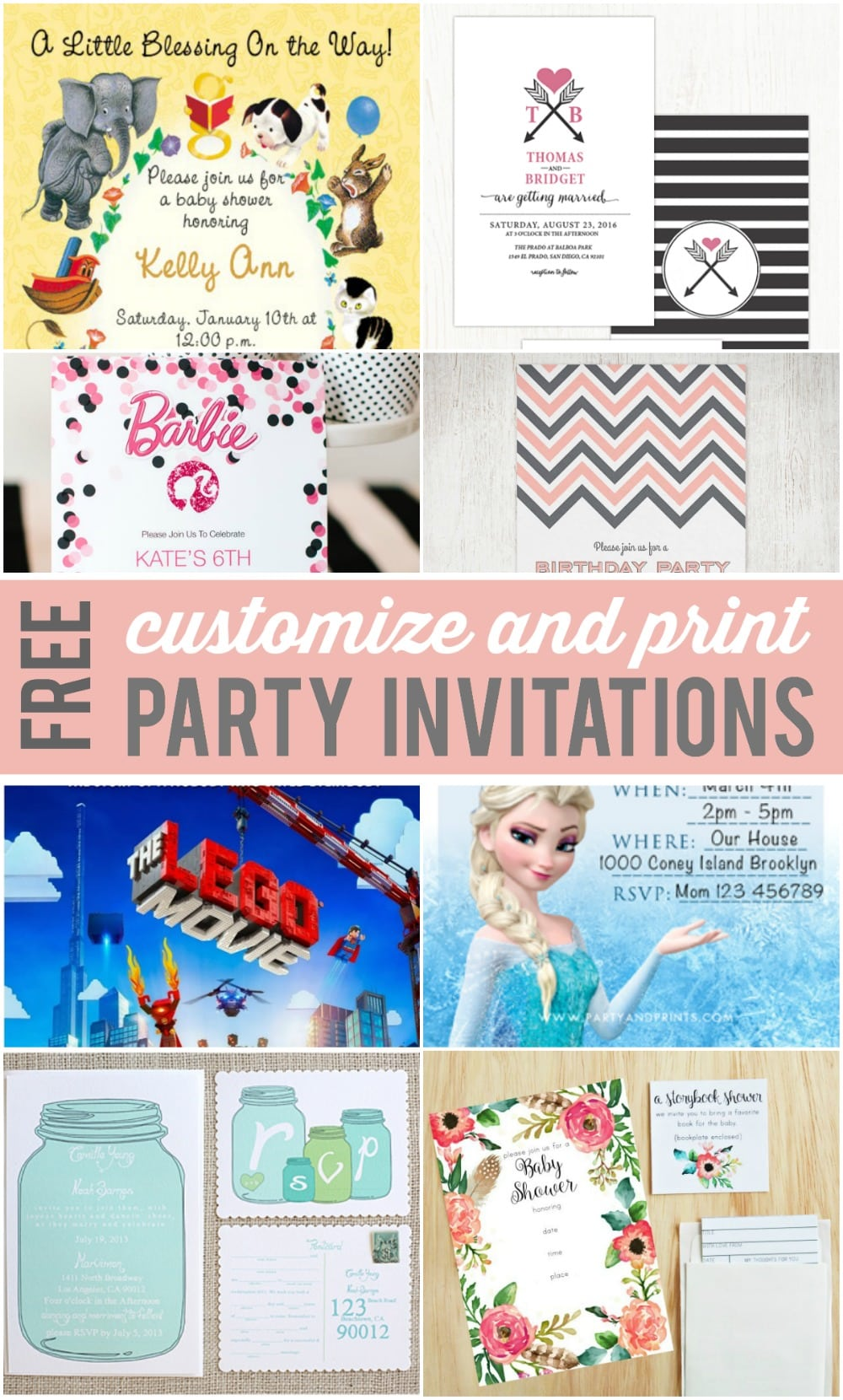 Customizable Party Invitations