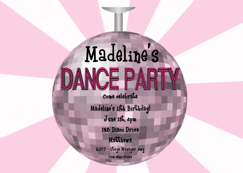 Dance Party Invitations