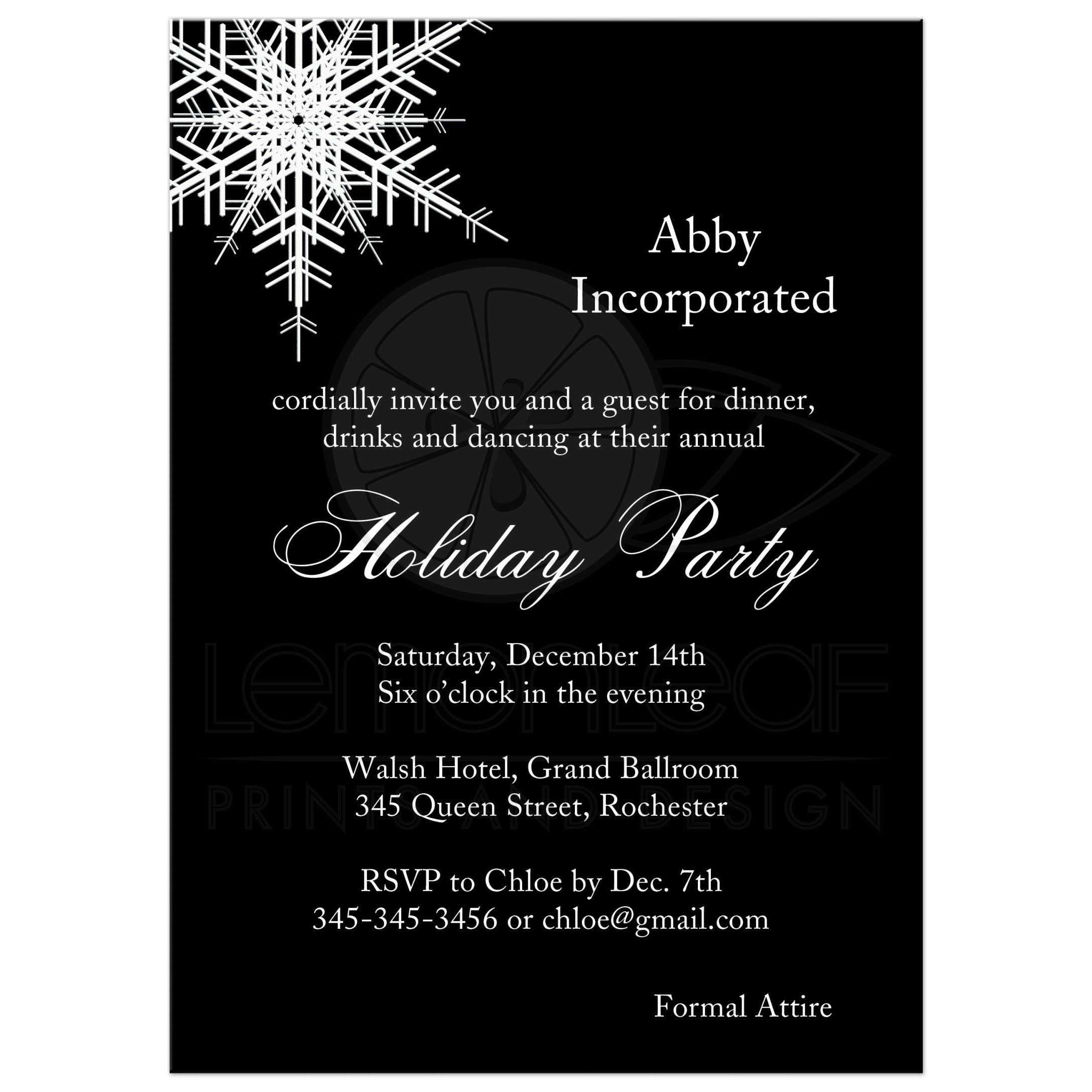 Dinner Party Invitations Best Of Corporate Party Invitation