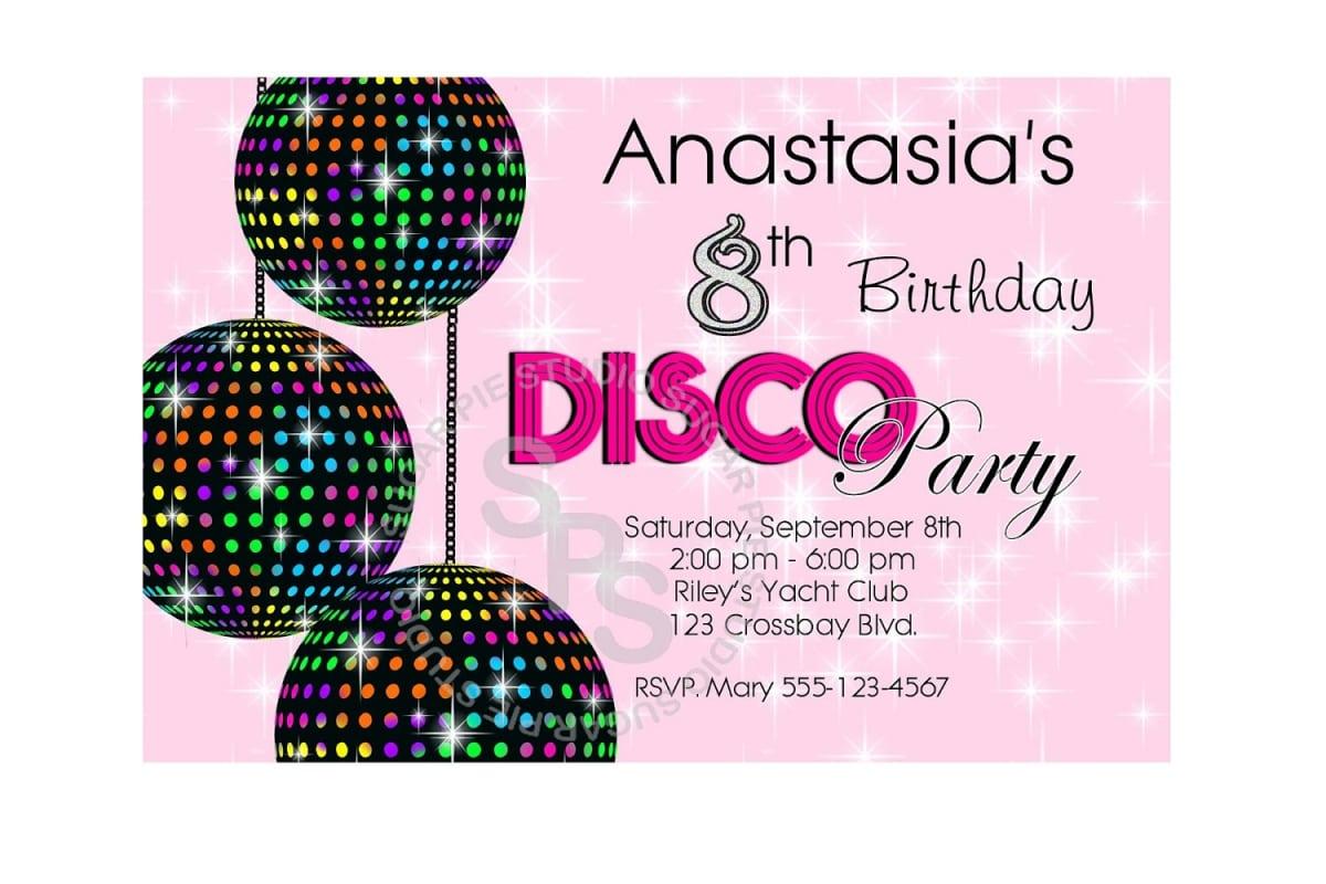Disco Party Invitations Free Printable