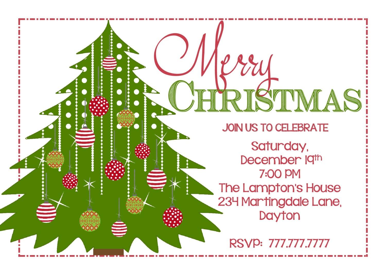 Diy Printable Christmas Party Invitation