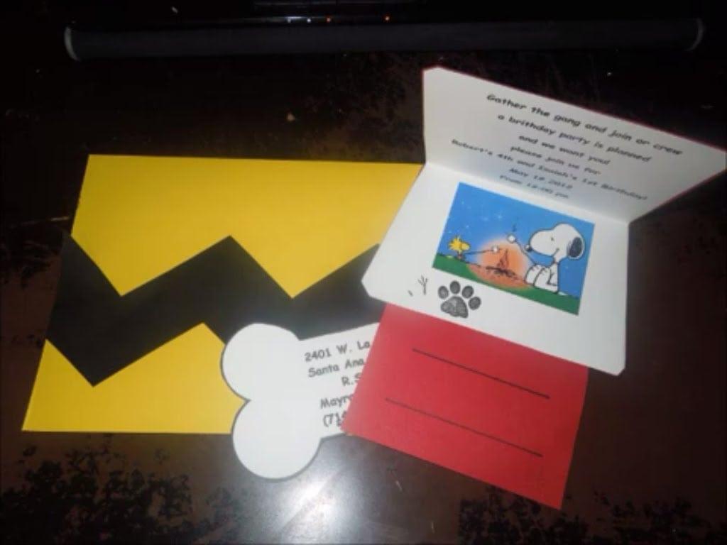 Diy Snoopy Invitations