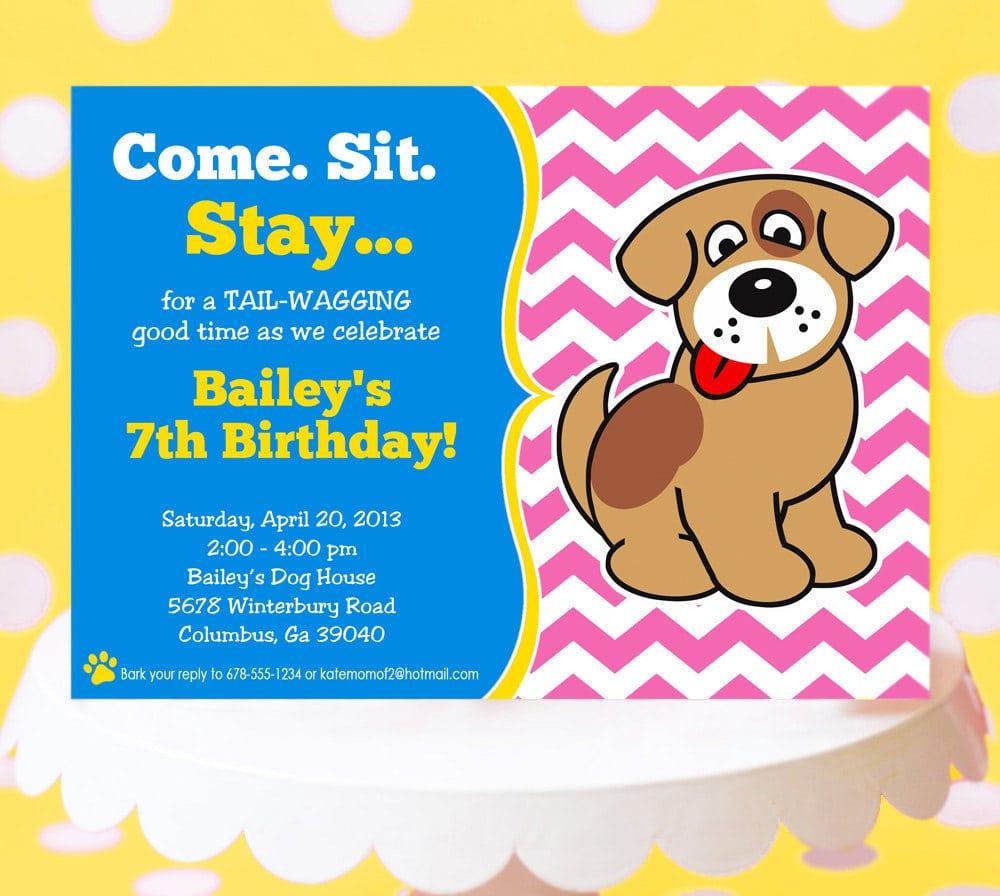 Dog Party Invitations