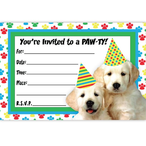 Dog Party Invitations Dog Party Invitations For The Invitations