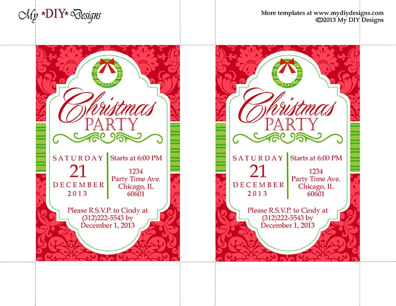 Download Christmas Party Invitation Templates Free