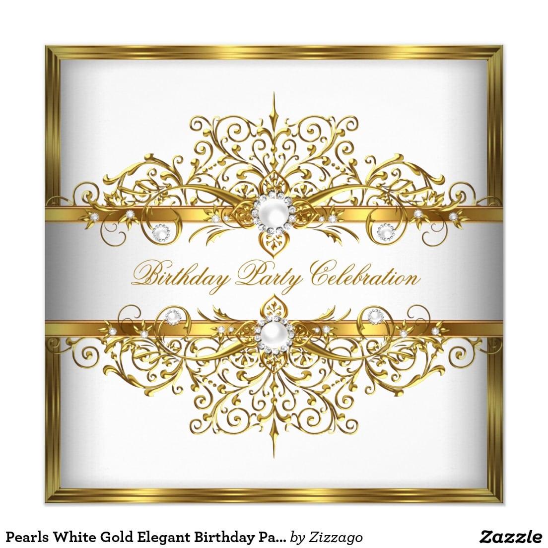 Elegant Birthday Party Invitations