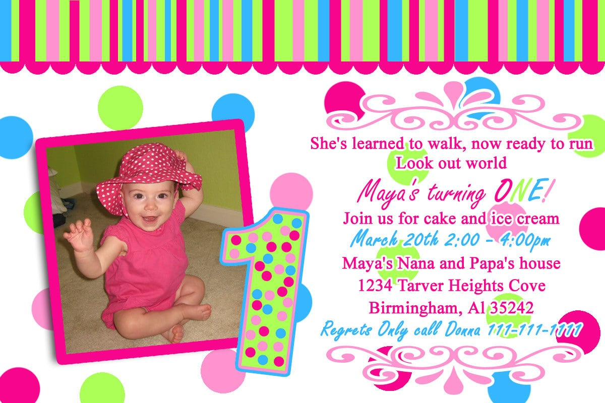 Example Of Birthday Invitation Card