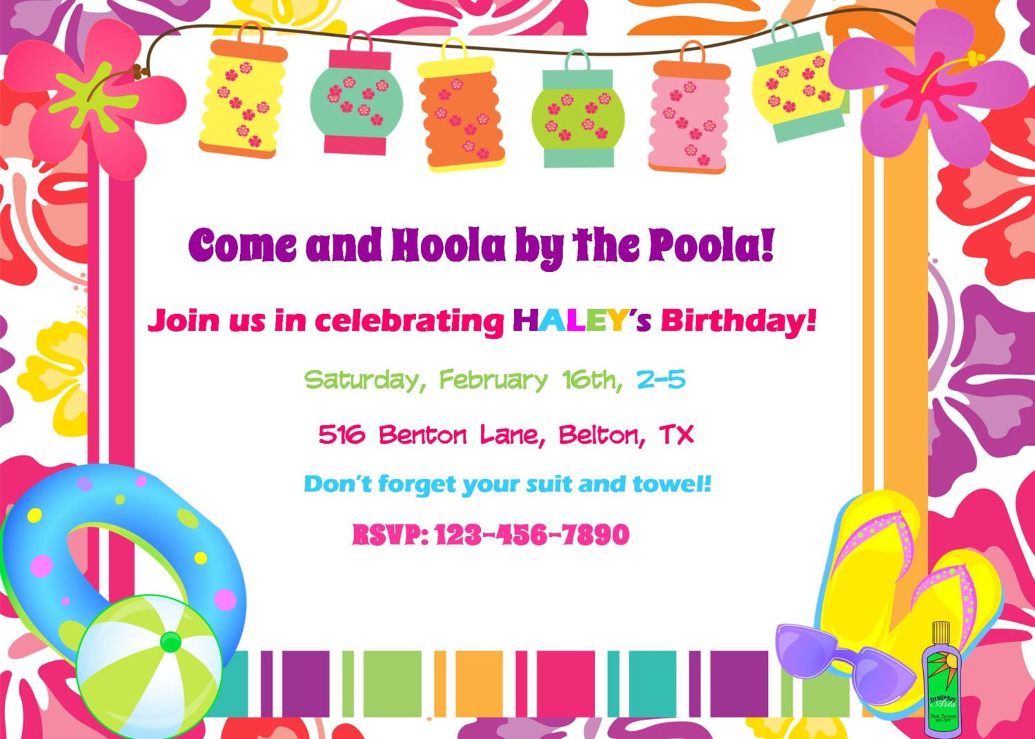 Extraordinary Hawaiian Pool Party Invitations 4 For Newest Article