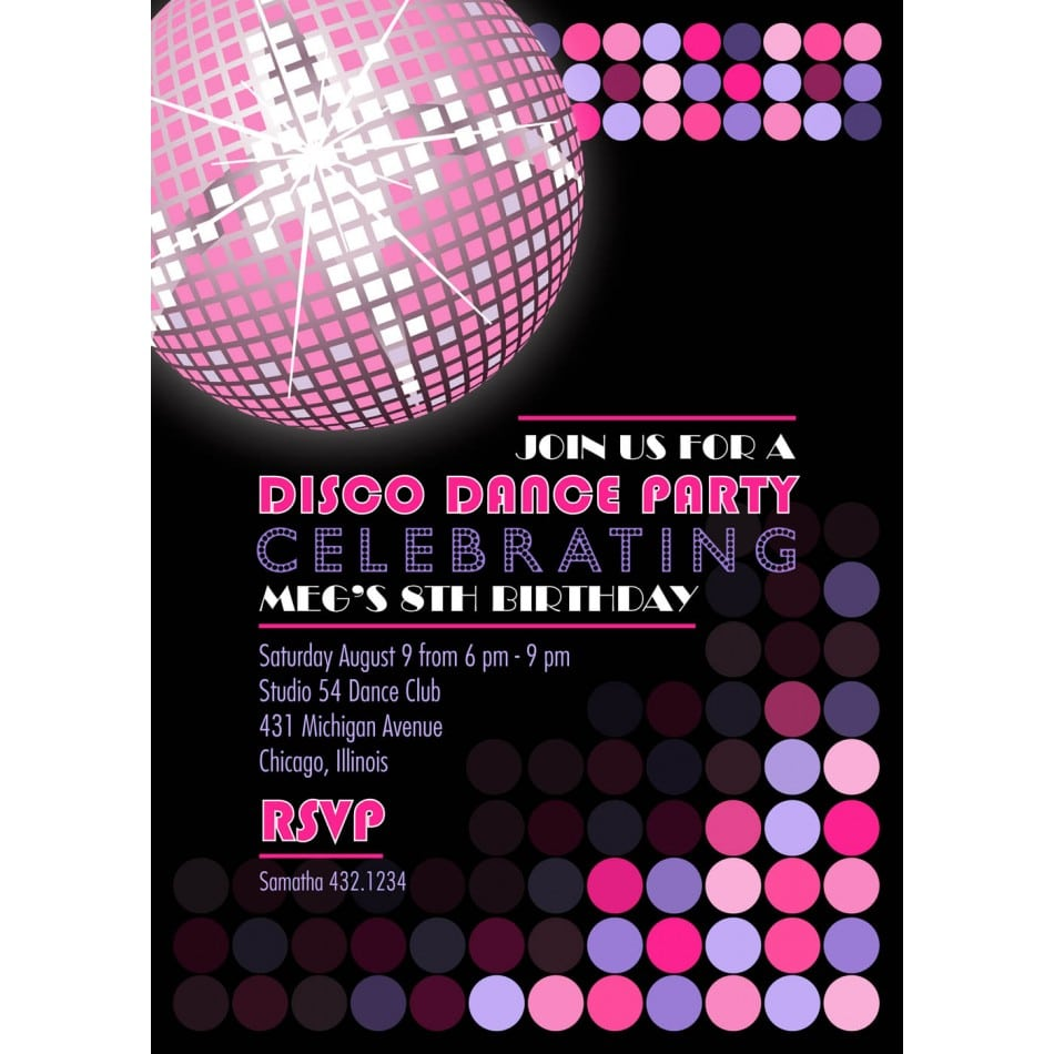 Fabulous Dance Party Invitation Wording Inside Inexpensive Article