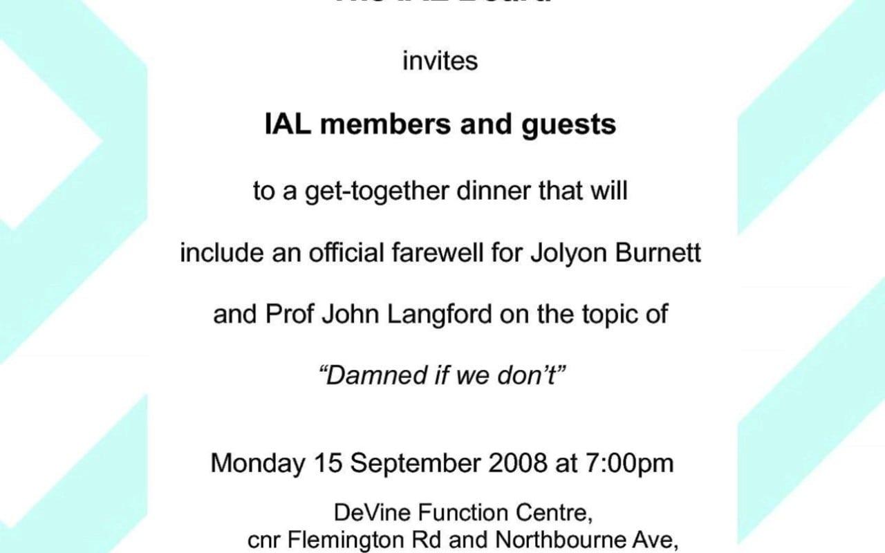 Farewell Invitation Sample