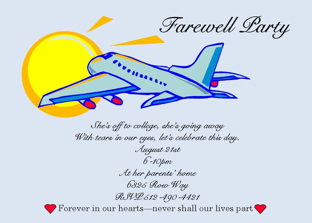 Farewell Party Invitation Wording Farewell Party Invitation