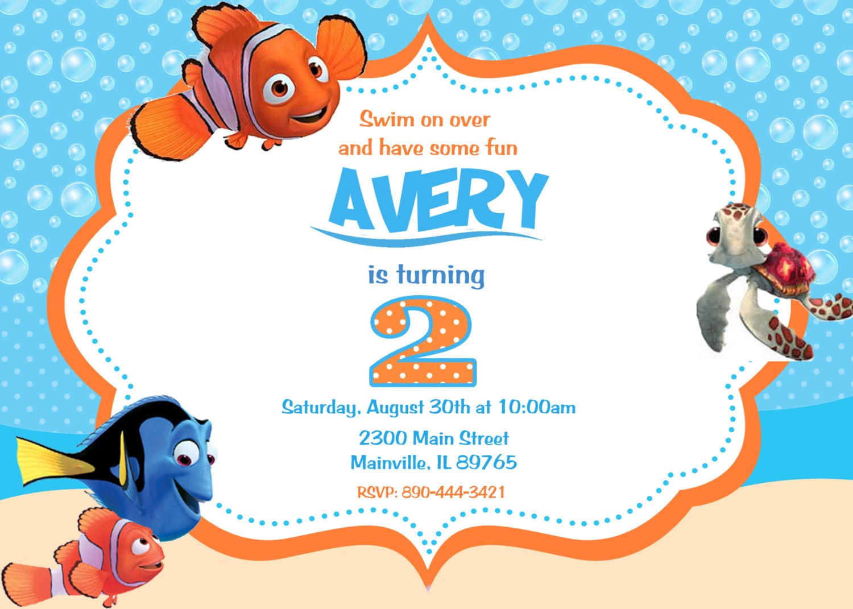 Finding Nemo Birthday Invitations
