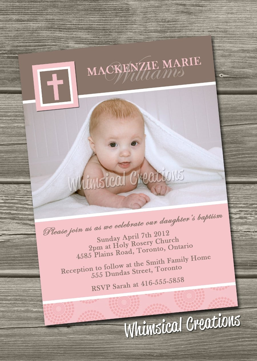 Fine Baptism And Birthday Party Together Invitation Contemporary