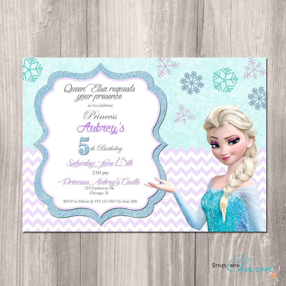 Fine Frozen Birthday Party Invites Ideas