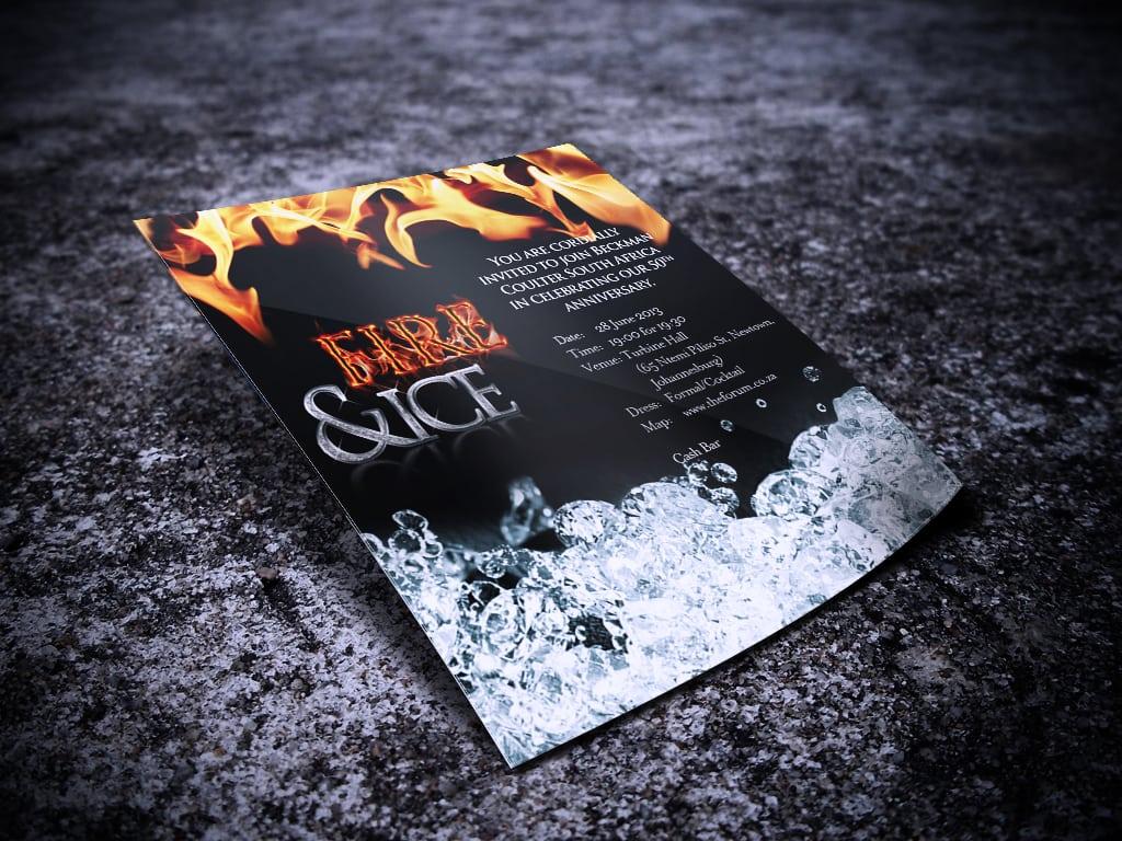 Fire & Ice Invitation