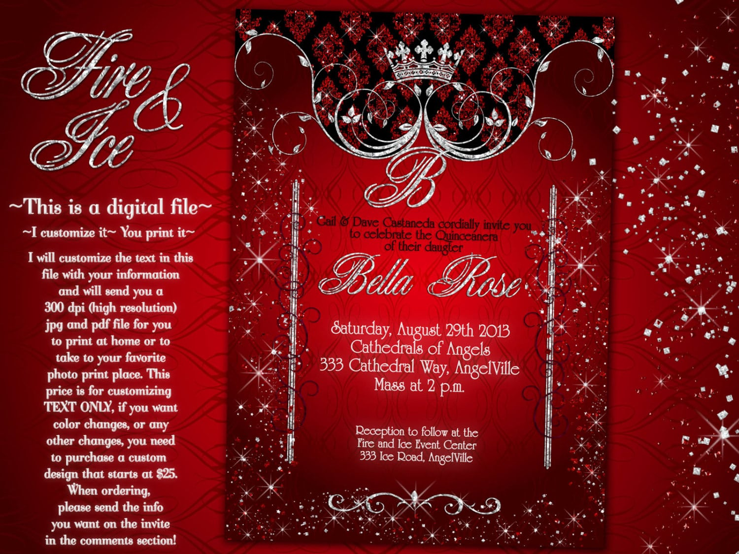Fire And Ice Party Invitations
