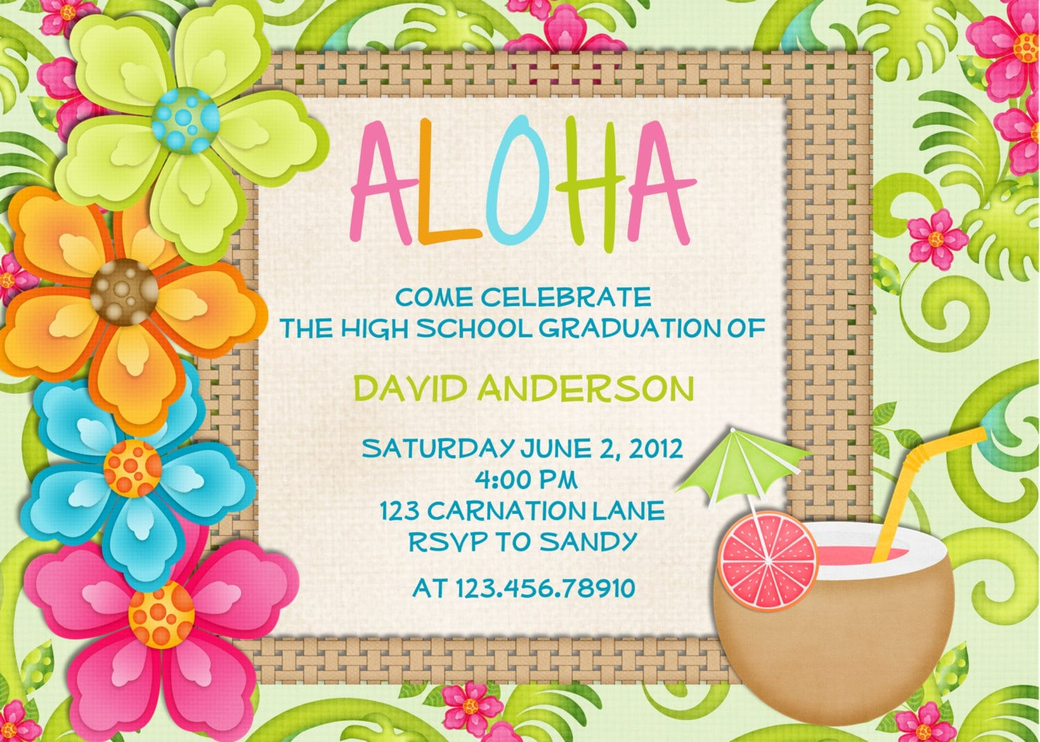 Free Beach Themed Birthday Invitations