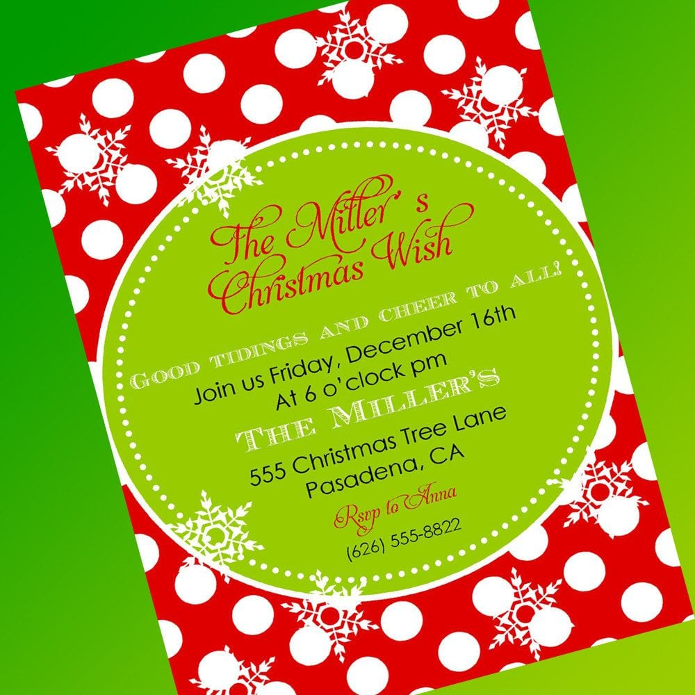Free templates christmas invitations