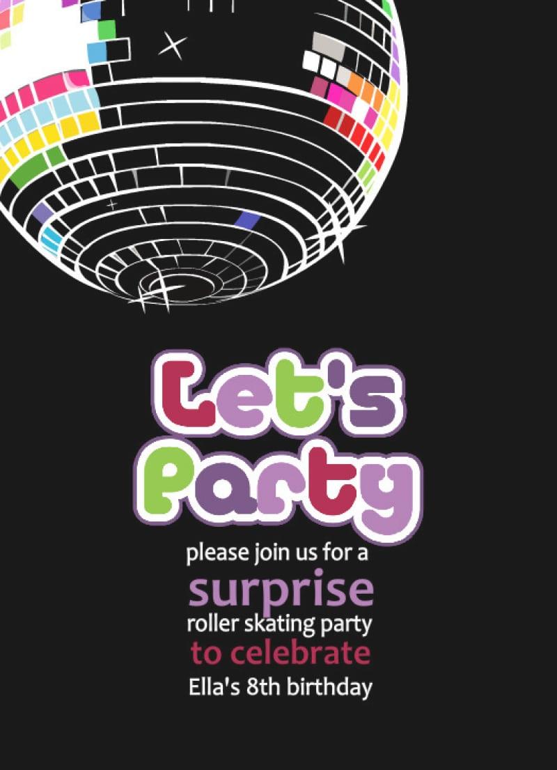 Free Printable Disco Party Invitation – Orderecigsjuice Info