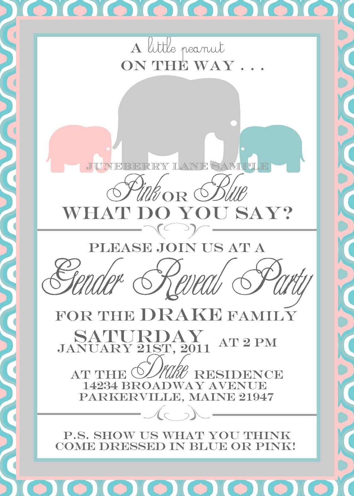 Free Printable Gender Reveal Party Invitations Free Printable
