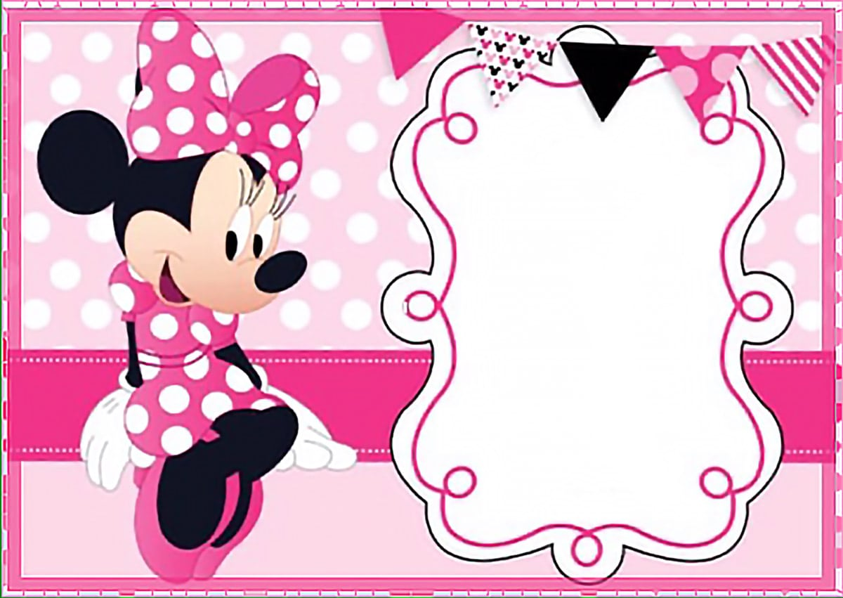 Free Printable Minnie Mouse Invitation Templates