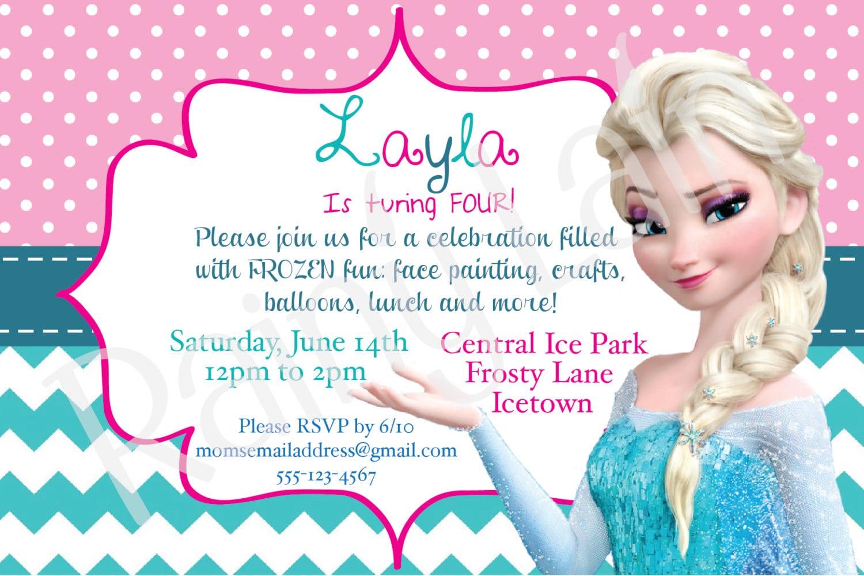 Frozen Birthday Invitation Wording