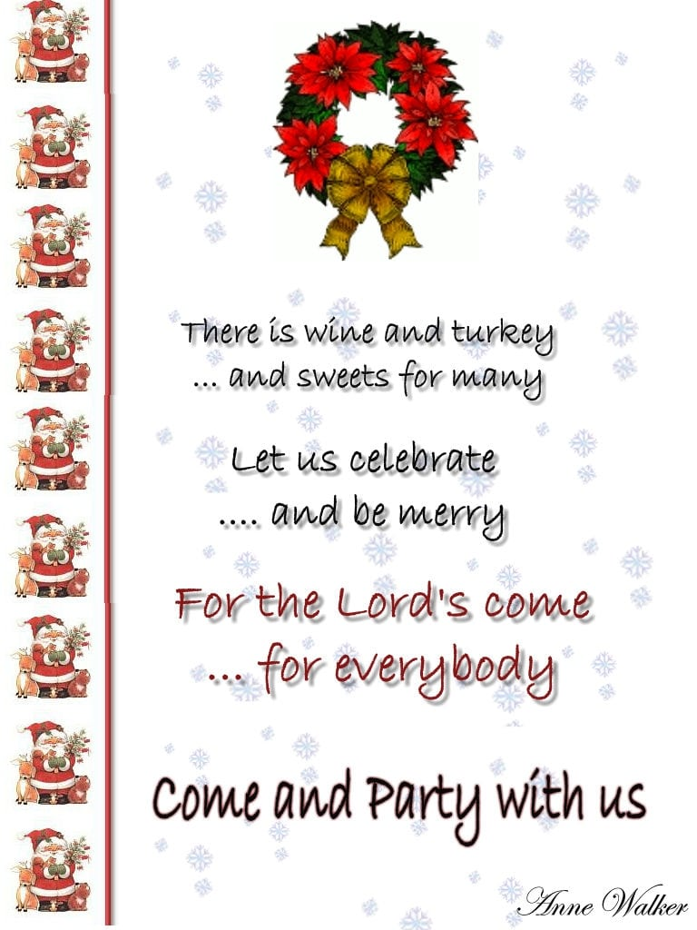 Funny Christmas Invitation Poems !