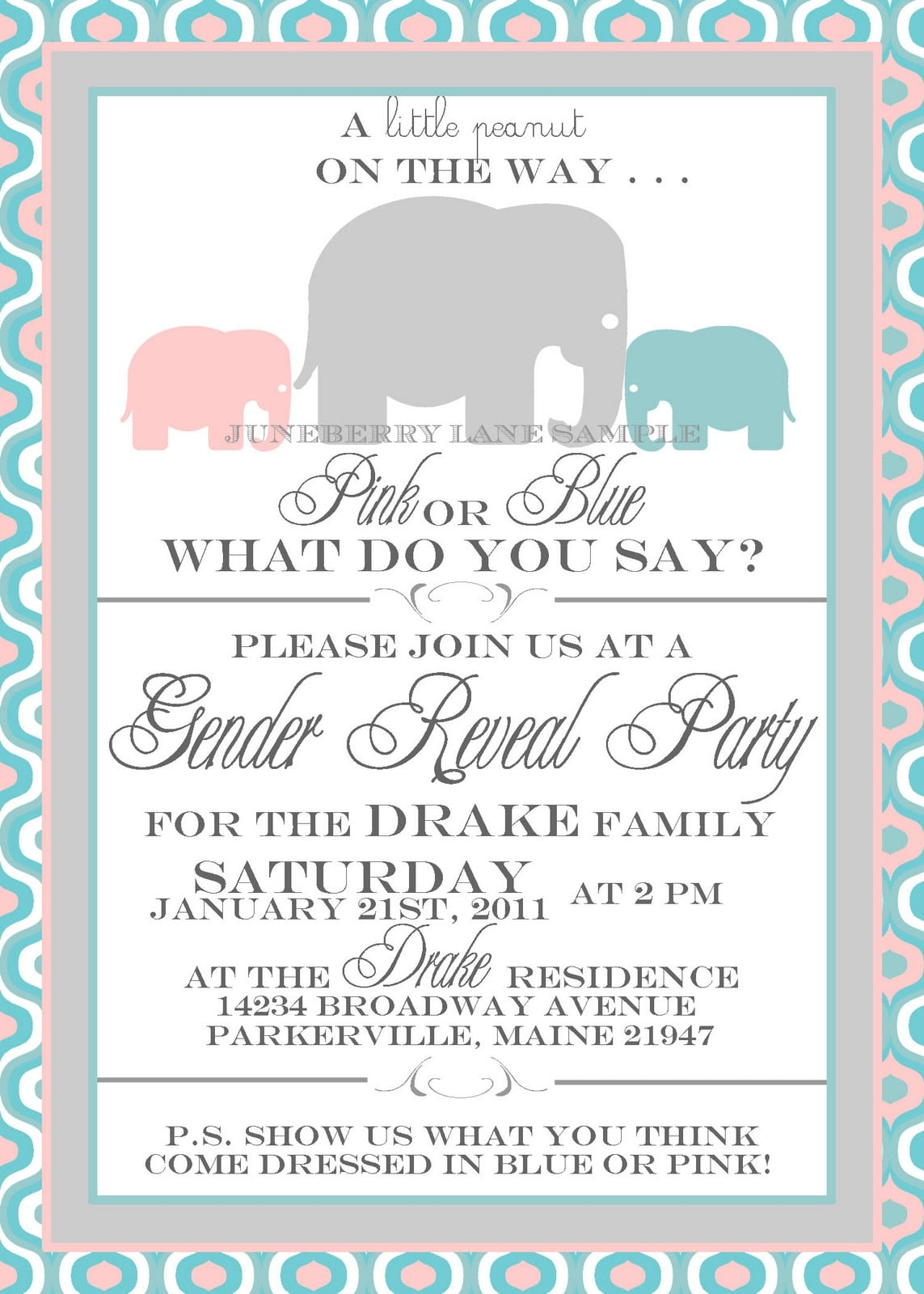 Gender Reveal Party Invitation Ideas