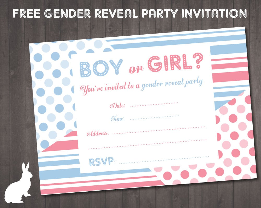 Gender Reveal Party Invites