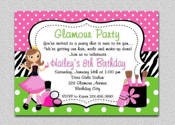 Girls Birthday Party Invitations
