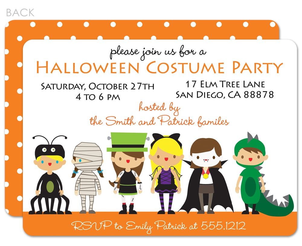 Halloween Costume Party Invitation Wording