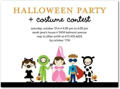 Halloween Costume Party Invitations Halloween Costume Party